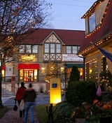 Asheville's Biltmore Village at Christmas