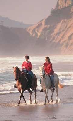 Lincoln City - retirees can ride on the beach