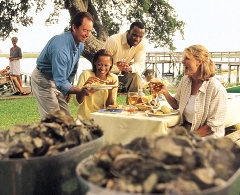 Active adults enjoy oyster roasts on SC coast