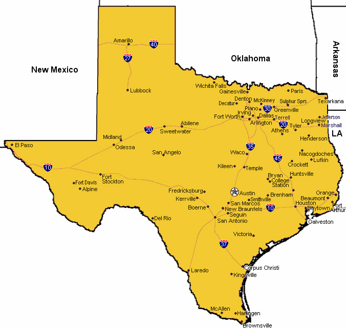 The Ultimate Small Town Texas Road Trip Map Ar Str Da